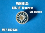 Transkit 1/24 MF Zone - ATS wheels 5 screw (4 piece)