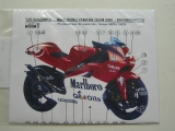 Decal 1/12 Reji model - Yamaha YZR 500 Marlboro team 2000/ Biaggi-Checca