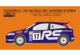 Decal 1/24 Reji model - Ford Focus WRC 01 RAC rally 2001 – M. Higgins