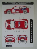 Decal 1/24 MF Zone - Ford Focus RS WRC 2000/ J. Kulig 2001