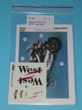 Decal 1/12 Reji model - Honda NSR 500 - 2001 West logos/ Capirossi, Barros