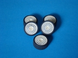 Transkit 1/24 MF Zone - Lancia Delta wheels and tyres (5 piece)