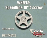 "Transkit 1/24 MF Zone - Speedline wheels 18"" 5 spoke 4 screw (4 piece)"