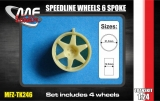 Transkit 1/24 MF Zone - Speedline wheels 6 spoke 5 screw (4 piece)