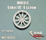 Transkit 1/24 MF Zone - Enkei wheels 10 spoke 4 screw (4 piece)