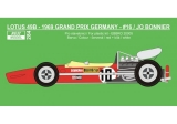 Decal 1/20 Reji model - Lotus 49B - 1969 GP Germany - Jo Bonnier