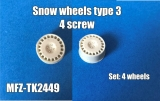 Transkit 1/24 MF Zone - Snow wheels type3 - 4 screw (4 piece)