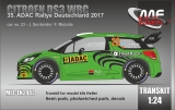 Transkit 1/24 MF Zone - Citroen DS3 WRC - Rally Deutschland 2017/ Serderidis