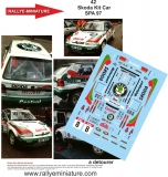 Decals 1/43 Škoda Felicia Kit Car - Boucles de Spa 1997/ Štolfa