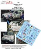 Decals 1/43 Škoda Favorit - Rallye Portugal 1991/ V. Berger