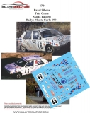 Decals 1/43 Škoda Favorit - Rally Monte Carlo 1991/ Pavel Sibera