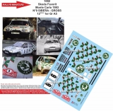 Decals 1/43 Škoda Favorit - Rally Monte Carlo 1993/ Pavel Sibera