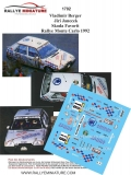 Decals 1/43 Škoda Favorit - Rally Monte Carlo 1992/ V. Berger