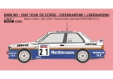 Decal 1/43 Reji Model - BMW M3 - Tour de Corse rallye 1989 - P.Bernardini