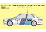 Decal 1/43 Reji Model - BMW M3 - 1990 ADAC Deutschland Rallye - I.Carlsson