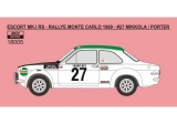 Decal 1/18 Reji Model - Ford Escort Mk.I - Rallye Monte Carlo 1969 # 27 Mikkolla