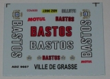 Decals 1/43 BASTOS - BMW M3/ Francois Chatriot
