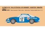 Decal 1/43 Reji Model - Alpine A 110 - Rally Škoda 1974/ Hubáček