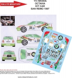 Decals 1/43 Škoda Octavia Kit Car - San Remo 97