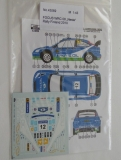 Decal 1/43 Reji Model - Ford Focus WRC - Rally Finland 2010/ J. Kankkunen