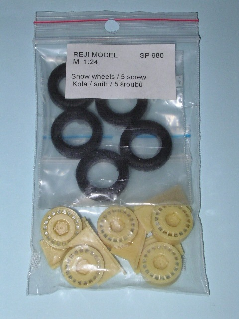 1/24 Reji Model - Wheels + tires ( snow ) / 5 pcs - O.Z.Racing / 5 screw