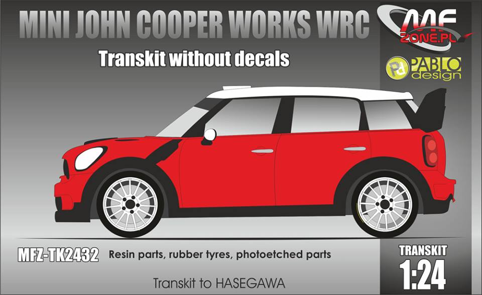 Transkit 1/24 MF Zone - Mini John Cooper WRC - without decal