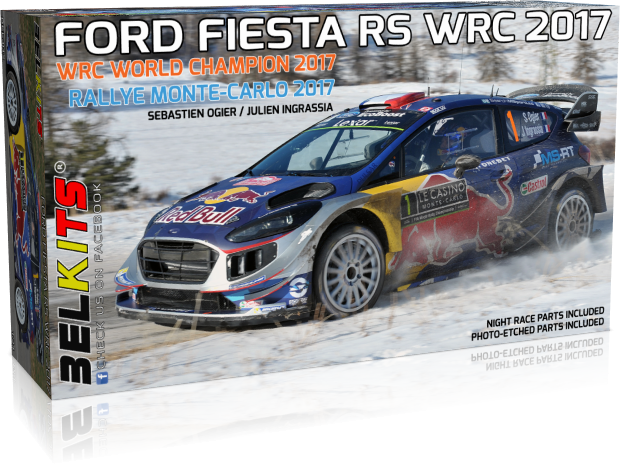 Plastic kit 1/24 - Ford Fiesta RS WRC 2017, Monte Carlo 2017/ S. Ogier