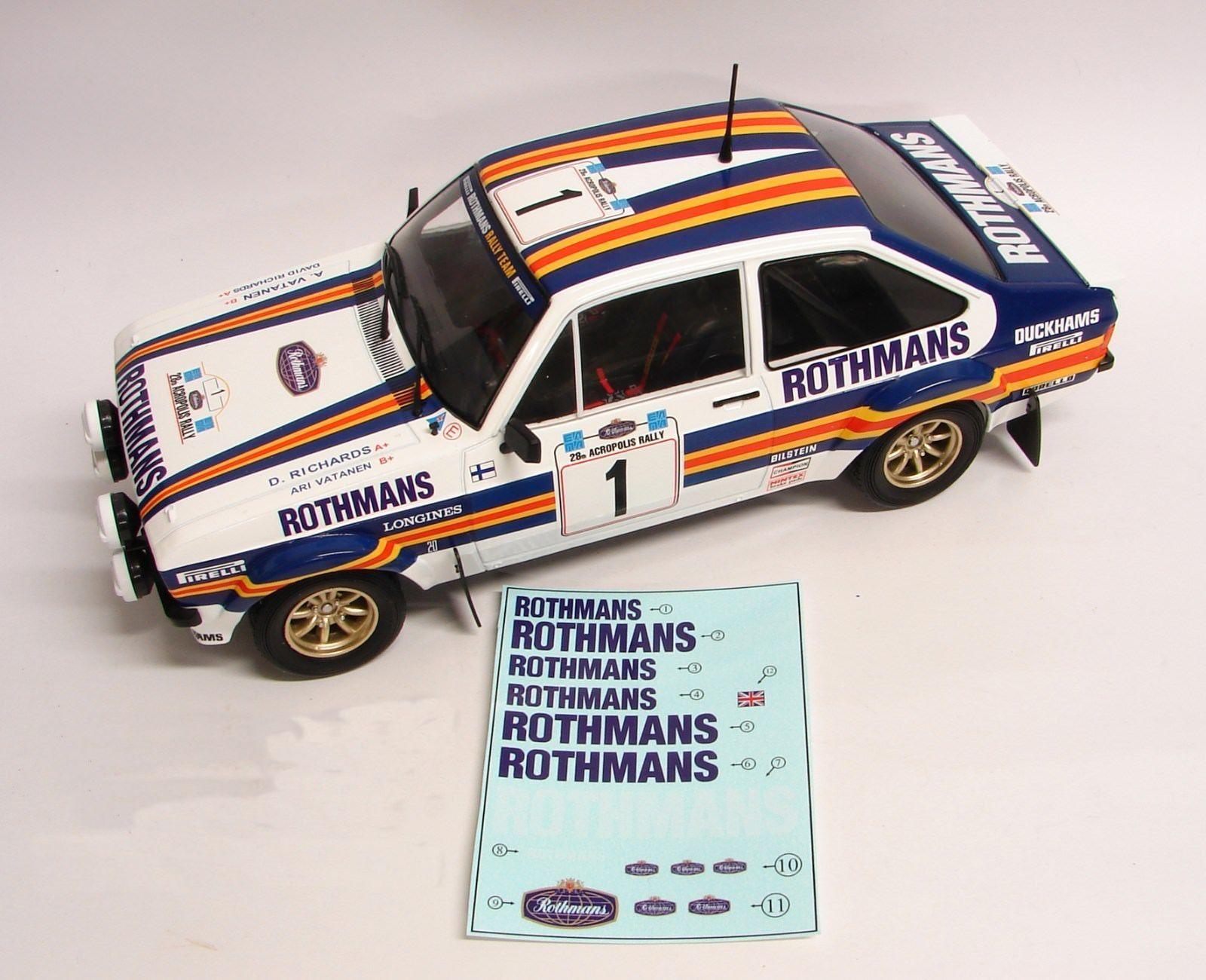 "Decals 1/18 ""Rothmans"" - Ford Escort - Acropolis Rally 1981/ Vatanen"