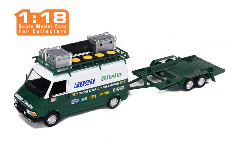 1/18 Fiat 242 + trailer - Fiat Alitalia Rally Team (Assistance)